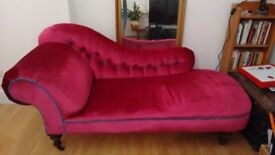 Victorian Chaise Longue - fully refurbished - reduced for quick sale!!!