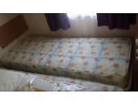 """2 x single mattresses for sale from static caravan. Sizes 27""""x 6"""" x 72""""and excellent condition."""