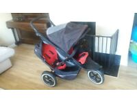***FREE DELIVERY TO BRIGHTON AND HOVE*** Phil and Teds double buggy stroller pram phil & ted
