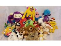 Assortment of soft toys Job lot. various sizes and characters.
