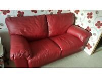 2 Seater Leather sofa bed - Argos Milano collection *from smoke & pet free home*