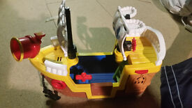 Fischer Price little people pirate boat with sounds