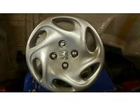 Genuine 14 inch Peugeot wheel trims x4 like new