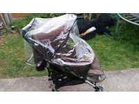 Used Baby Pram with Rain cover