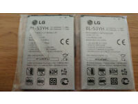 LG G3 Batteries, Original batteries supplied by LG. BL-53YH, hardly used, VGC. 3000mAh.