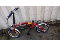 BIKE FOLDING BIKE SEAT REQUIRED 6 SPEED 16 INCH WHEEL AVAILABLE FOR SALE