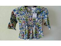 BNWT - Next floral top - Age 3 yrs