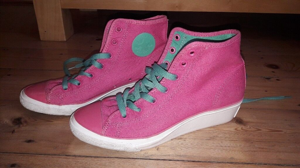 Converse wedge trainers size 4