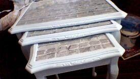 refurbished nest of tables