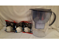 Brita Water Filter Jug + 3 x New Filters- Very Good Condition