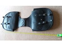 pair of leather pannier bags in leather