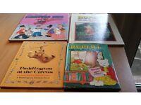 Rupert, Paddington and camberwick green kids books