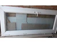 UPVC white frame external door - full length window
