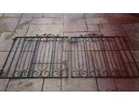 Metal drive way gates