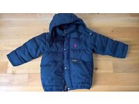 Three Ralph Lauren Polo winter jackets for 3-6 year olds