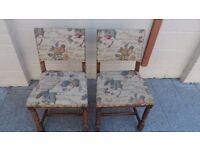 2 Rustic Wooden Chairs