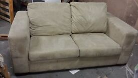 2 Seater Cream/Beige Sofa - Great Condition and no damage.