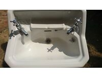 1930 wash basin with cast iron rails