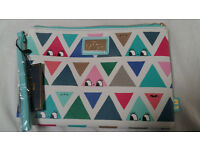 NEW Little Moose triangle face print clutch