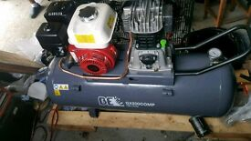 Brand new Honda engine 150 litre petrol compressor