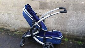 Inline double pushchair perfect condition