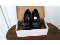 Size 10 Man's 'Cosyfeet' Extra Roomy black leather shoes