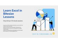 Bitesize MS Excel Lessons - 30 Minutes Remote Lessons - Only £20