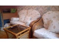 Wicker Suite - 2 seater + 1 seater + table