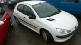 peugeot 206 style 2004 registration, 1.1 petrol , covered only 96,000 miles, new mot on purchase