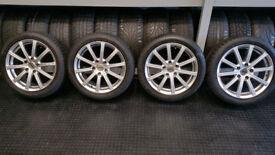 BMW 17 alloy wheels + 4 x tyres 205 50 17 Bridgestone Run Flat Winter