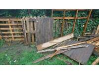 Free pallets wood posts