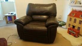 Lazy boy leather arm chair
