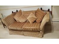 Classic, comfy two seater sofa's (matching pair).