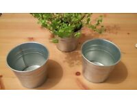 silver flowerpot