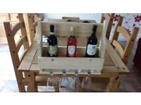 RUSTIC WINE RACK MADE FROM PALLET WOOD