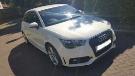 Audi A1 S-Line 1.6 TDI in white