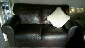 Sofa For Sale 3 Seater and 2 Seater Set Brown Leather