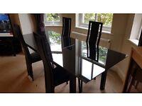 tempered glass dinner table