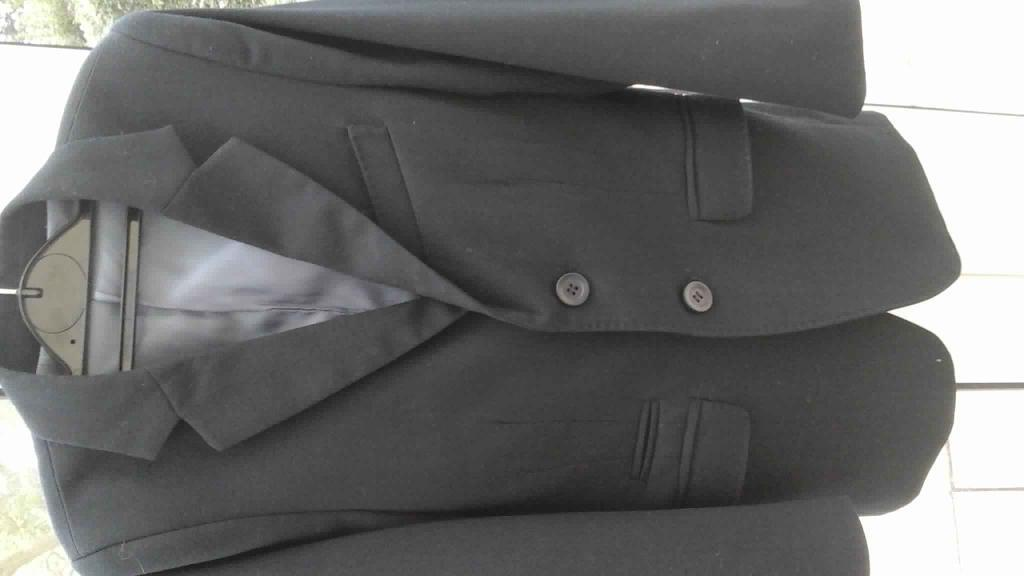 Boy M&S suit age 7/8 navy