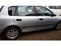 HONDA CIVIC 1.6 PETROL 53 REG BREAKING FOR SPARES