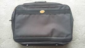 "EQUATOR GREY SUITCASE WITH TWO ZIPPED SECTIONS 22"" x 16"" x 5"" - 56cms x 41cms x 13cms"