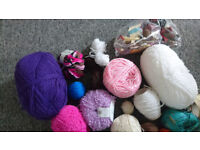 2 bags of yarn for knitting/crafting