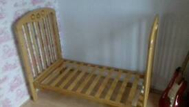 Pine toddler cot/bed