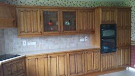 Solid Oak Kitchen units & appliances for sale