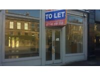 Edinburgh (EH9) shop with 2 large display windows and central glazed door Minto Street 31e to rent
