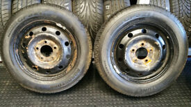 205 65 16 C 2 x tyres Roadstone Classe Premiere CP321/Hifly super2000