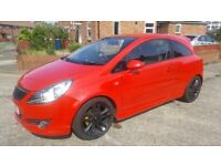 2007 57 VAUXHALL CORSA DESIGN 1.4 16V RED, XP KIT, LIMITED EDITION ALLOYS, IRMSCHER GRILL