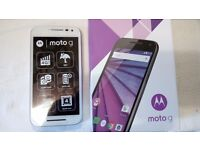 Motorola Moto G 3rd gen 8GB White Unlocked Smartphone