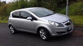 2010 Vauxhall corsa 1.4 sxi silver, alloys, rear tinted glass, CD player, all good tyres, good body