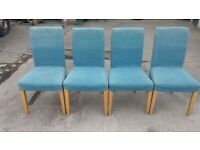 SET OF 4 IKEA HENRIKSDAL CHAIRS - REMOVABLE COVERS